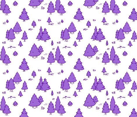 A Lot of Trees - Purples (white background) fabric by jesseesuem on Spoonflower - custom fabric