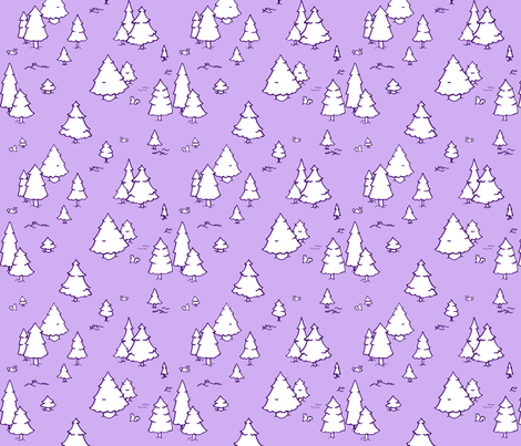 A Lot of Trees - Purples fabric by jesseesuem on Spoonflower - custom fabric