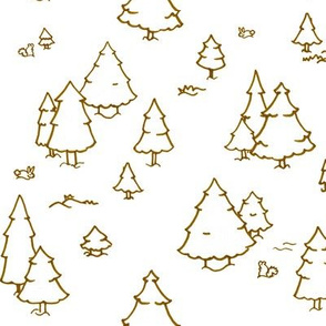 A Lot of Trees - Browns (outlines)