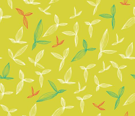 botanical_leaves fabric by oohoo on Spoonflower - custom fabric
