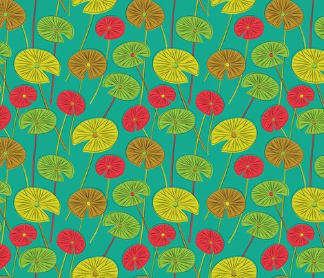 Rlotus_botanical_pattern_aqua_shop_preview