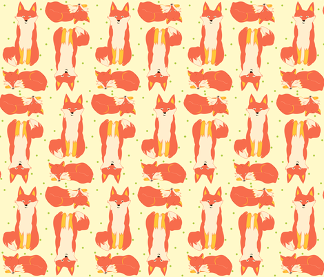 lg_scale_fox fabric by featheredneststudio on Spoonflower - custom fabric