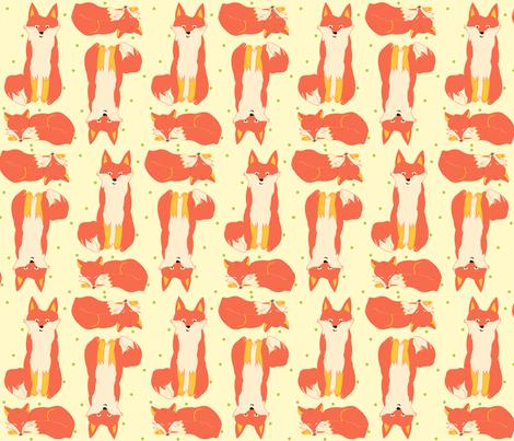 lg_scale_fox fabric by featheredneststudio on Spoonflower - custom fabric