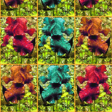 Giant Iris-Blythe fabric by blythe_ayne's_fabric_designs on Spoonflower - custom fabric