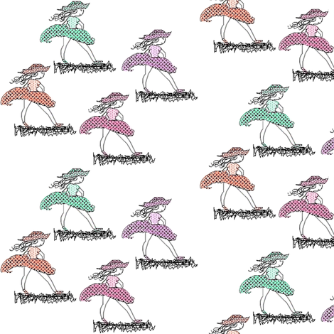 KnowsWhereShe'sGoing fabric by blythe_ayne's_fabric_designs on Spoonflower - custom fabric