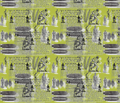 Slavery Toile II-Olive fabric by kkitwana on Spoonflower - custom fabric