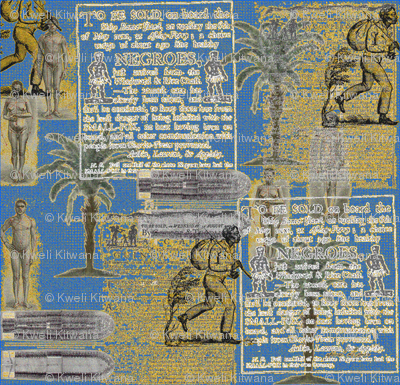 Slavery Toile-Blue and Gold