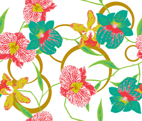 Botanicalorchid_3 fabric by yvonne_herbst on Spoonflower - custom fabric