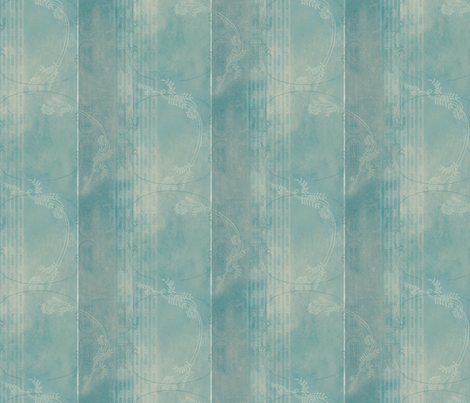 Victorian Rustic Blender - Blue Caracao fabric by mudstuffing on Spoonflower - custom fabric