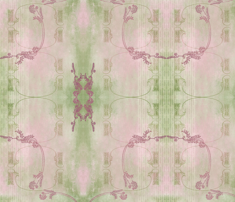 Victorian Rustic Variation - Cream fabric by mudstuffing on Spoonflower - custom fabric