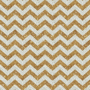 Glitter Chevron Silver and Gold