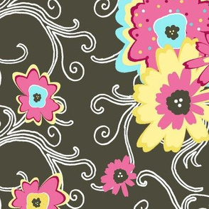 flower power black