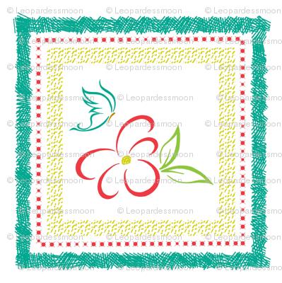 bright flower pillow panel