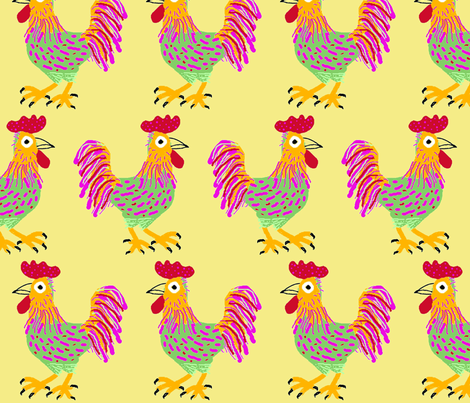 Cocoroco fabric by yellowstudio on Spoonflower - custom fabric