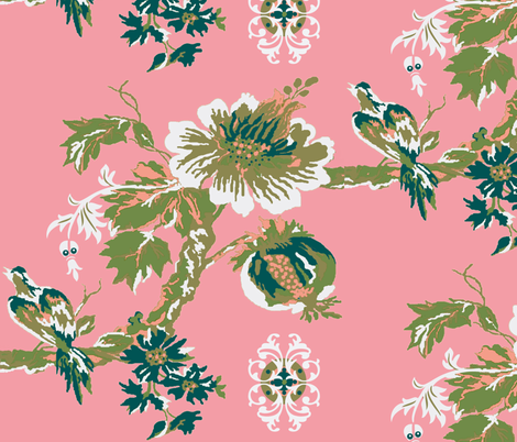 Paradise Blush fabric by paragonstudios on Spoonflower - custom fabric