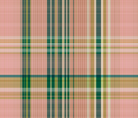 Paradise Blush / burlap plaid fabric by paragonstudios on Spoonflower - custom fabric
