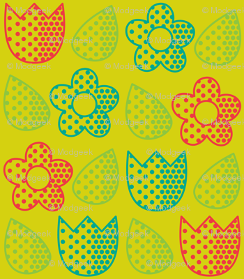 Pop Bot Floral Yellow