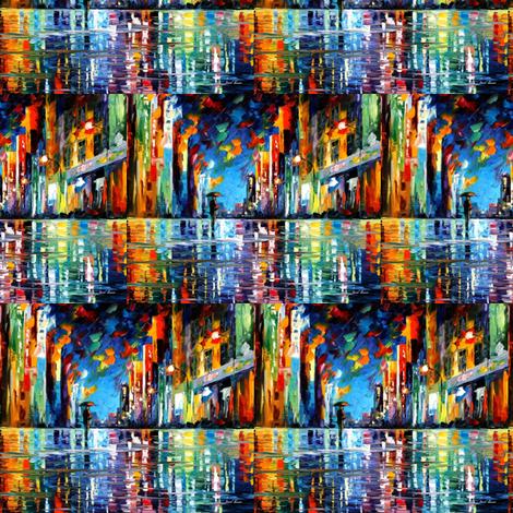 Reflections Of Blue Rain fabric by afremov_designs on Spoonflower - custom fabric