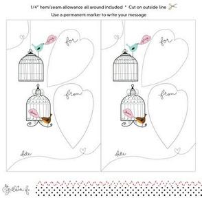 Quilt Label- Cheery Birdies