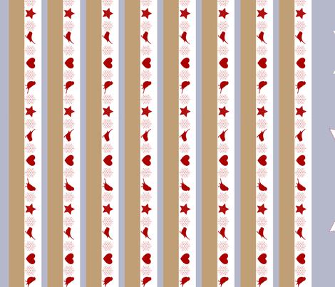Winter Birds Christmas Tree Decorations fabric by jasmo on Spoonflower - custom fabric