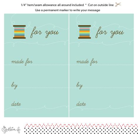 Quilt Label- Mod Thread fabric by cynthiafrenette on Spoonflower - custom fabric