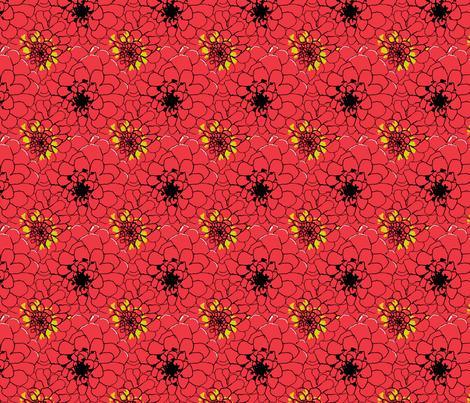 dahlia_45_edit2_Picnik_collage-ch fabric by khowardquilts on Spoonflower - custom fabric