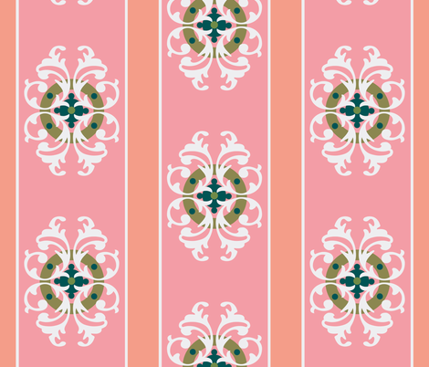 paradise blush crest fabric by paragonstudios on Spoonflower - custom fabric