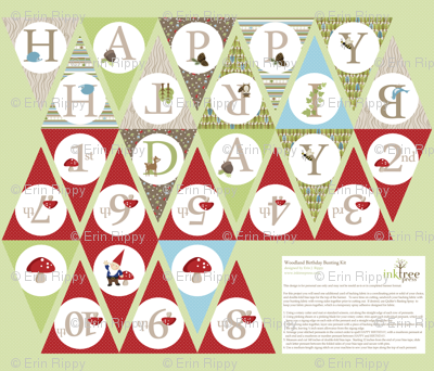 Birthday Bunting - Red