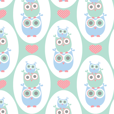 Whooo-stacks fabric by saraink on Spoonflower - custom fabric