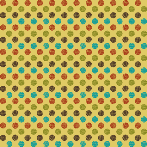 Woodland Dots fabric by saraink on Spoonflower - custom fabric