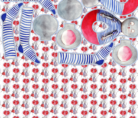 kit Malo et Lili les souris fabric by nadja_petremand on Spoonflower - custom fabric