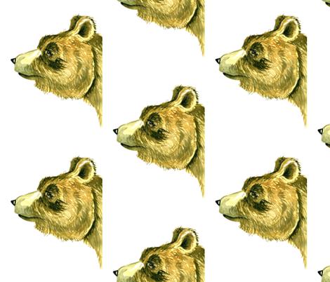 Bear Face fabric by taraput on Spoonflower - custom fabric