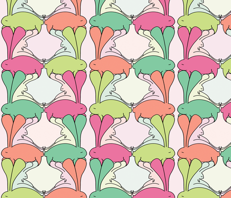 Aplin Bunnies, Original fabric by beth_snow on Spoonflower - custom fabric