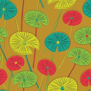 lotus leaves (mustard)