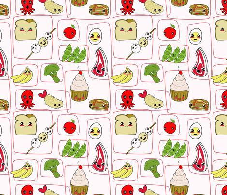 happy food fabric by salad_of_despair on Spoonflower - custom fabric