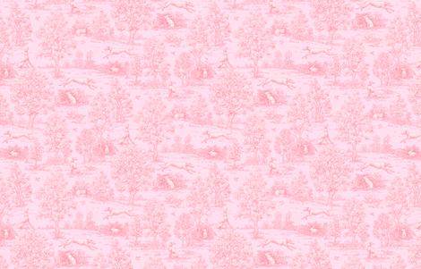 Original Light Pink Reverse Greyhound Toile ©2010 by Jane Walker fabric by artbyjanewalker on Spoonflower - custom fabric