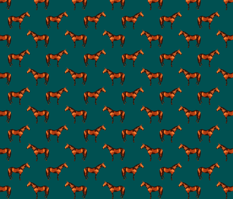 Thoroughbred Teal fabric by shenlei on Spoonflower - custom fabric