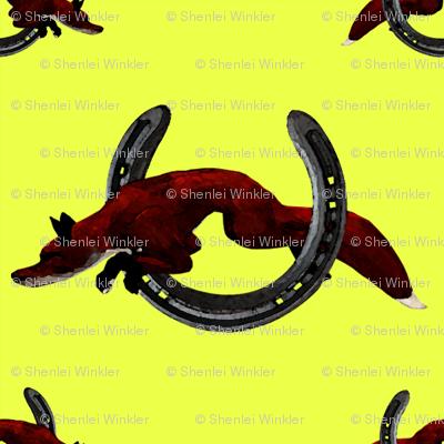 Carriage Trade Fox 2 Chrome wallpaper - shenlei - Spoonflower