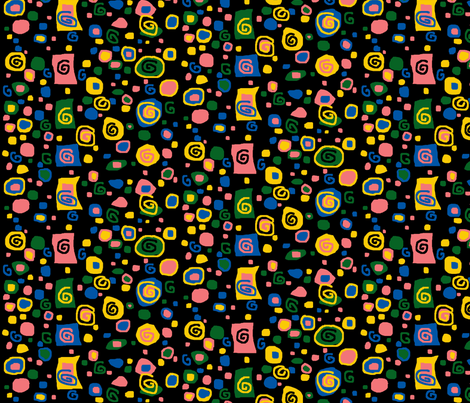 CatsoozieBlender-Black fabric by auntiecats on Spoonflower - custom fabric
