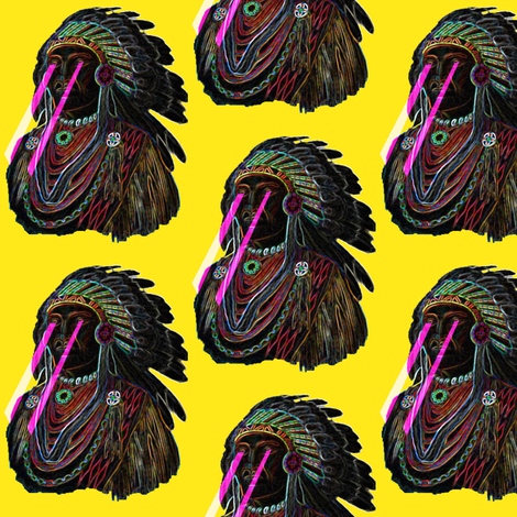 Neon Chief Sun fabric by dolphinandcondor on Spoonflower - custom fabric