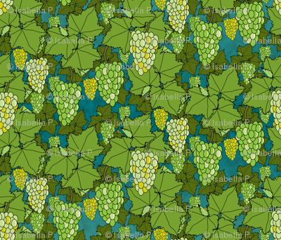 Fresh Green Grapes - Night