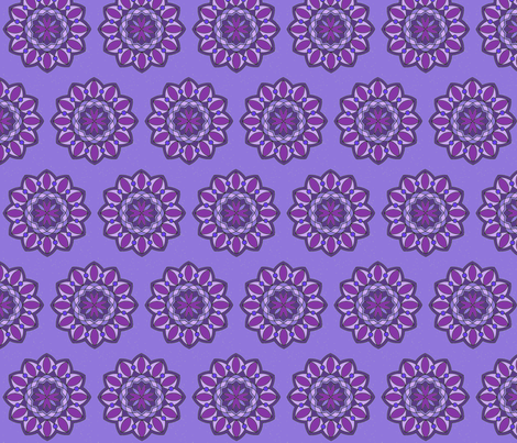 Purple Mandala with Sparkles fabric by rengal on Spoonflower - custom fabric