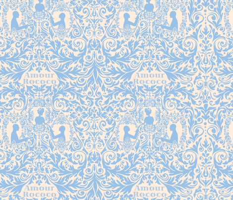 Amour Rococo fabric by made_in_shina on Spoonflower - custom fabric
