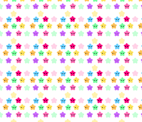 KawaiiStars fabric by eerie_doll on Spoonflower - custom fabric