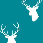 Teal Deer Silhouette