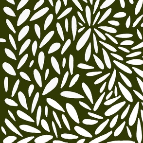 olive green and white pebbled leaves