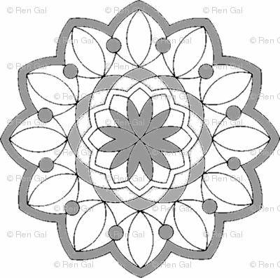 Lavendar Mandala