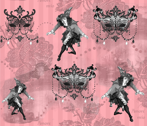 Venetian Carnivale fabric by poetryqn on Spoonflower - custom fabric