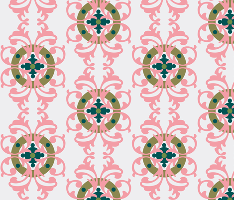 paradise rococo /ornate  fabric by paragonstudios on Spoonflower - custom fabric