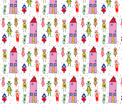 My Friends  fabric by lisa_manuels on Spoonflower - custom fabric